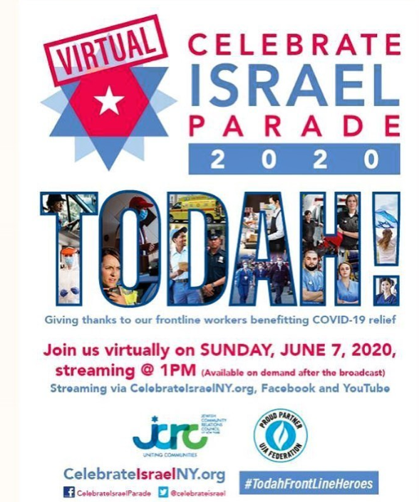 israel day parade zoom